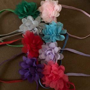Other - 8-Piece Elastic Flower Headbands